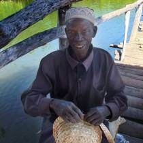 Man making hat